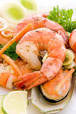 Prawns and Mussels Royalty Free Stock Images
