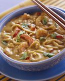 Prawns with noodles Stock Images
