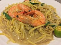 Prawns noodles Royalty Free Stock Photography