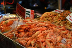 Prawns and other sea food Stock Image