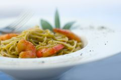 Prawns and Pasta series Stock Photography