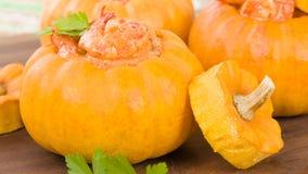 Prawns in Pumpkin Royalty Free Stock Images