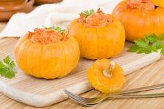 Prawns in Pumpkin Royalty Free Stock Photos