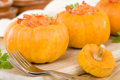 Prawns in Pumpkin Stock Image