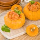 Prawns in Pumpkin Stock Images