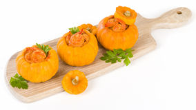 Prawns in Pumpkin Stock Photography