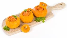 Prawns in Pumpkin Stock Photography