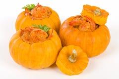 Prawns in Pumpkin Stock Photos