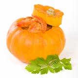 Prawns in Pumpkin Royalty Free Stock Photo