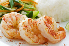 Prawns with Rice Royalty Free Stock Image