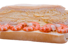 Prawns on Roll Stock Photo