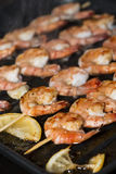 Prawns in a Skillet Royalty Free Stock Photography