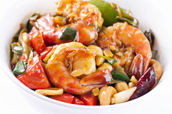 Prawns sweet-sour Stock Photography