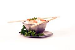prawns2 ryżu Fotografia Royalty Free