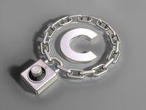 prawo autorskie ochrona Zdjęcia Stock