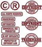 prawo autorskie stempluje znaka firmowy wektor Fotografia Royalty Free