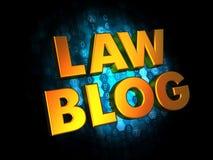 Prawo blog - złota 3D słowa ilustracja wektor