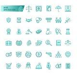 Prawo i prawnik usługa wektorowe ikony ustawiać dla sieć projekta, wisząca ozdoba app, graficzny projekt royalty ilustracja