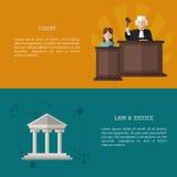 Prawo i sprawiedliwości ikony projekt Fotografia Royalty Free