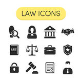 Prawo ikony Obrazy Stock