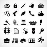 Prawo ikony ustalony wektor Obrazy Stock