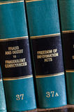 Prawo książki w bibliotece Obraz Royalty Free