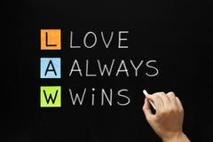 PRAWO - Miłości Zawsze wygrany Zdjęcie Stock