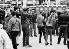 Prawo & rozkaz, SVU partnerować w filmie i członkowie obsady Zdjęcie Royalty Free