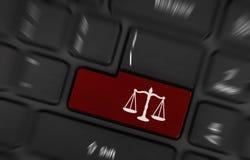 Prawo symbol (czerwień klucz) Obraz Stock