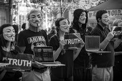 Prawo Zwierząt protest W San Francisco, Maju - 2018 fotografia royalty free