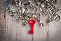 Prawy czerwony rocznika klucza sukcesu pojęcie Zdjęcie Stock
