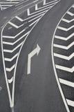 prawy znaków ruch drogowy zwrot Fotografia Royalty Free