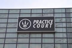 Praxis-Gericht von Toronto-Raubvögeln Stockbilder