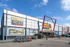 Praxis hardware store in Leiderdorp, Netherlands. Praxis is a leading DIY brand in the Netherlands and has a total of 146 stores and is part of the Maxeda DIY royalty free stock photography