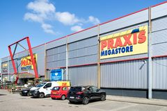 Praxis hardware store in Leiderdorp, Netherlands. Praxis is a leading DIY brand in the Netherlands and has a total of 146 stores and is part of the Maxeda DIY royalty free stock photo