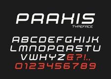 Praxis vector decorative italic font design, alphabet, typeface, Stock Photo