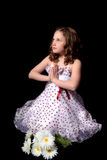 Pray. A young girl is praying Royalty Free Stock Photography