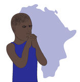 Pray for African Stock Image
