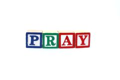 Pray blocks Royalty Free Stock Photos