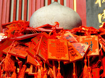 Pray boards of Xiangshan Temple Royalty Free Stock Images