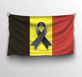 Pray for Brussels flag Royalty Free Stock Photo