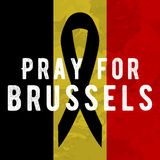 Pray for brussels Stock Image