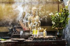 Pray budha. Incense smoke for pray budha Stock Photography