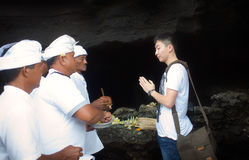 Pray ceremony of bali island Stock Photos