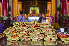 Pray at Chinese temple Royalty Free Stock Photos