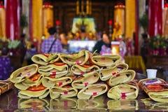 Pray at Chinese temple Royalty Free Stock Photos