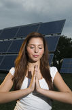 pray for energy Royalty Free Stock Photos