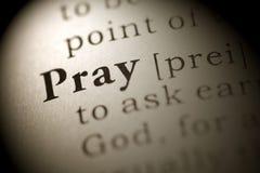 Pray. Fake Dictionary, Dictionary definition of the word Pray Royalty Free Stock Photos