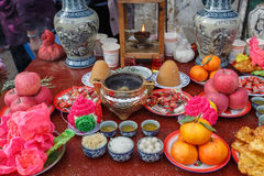 Pray and fend for sacrifice practice in Dali. Yunnan Stock Image