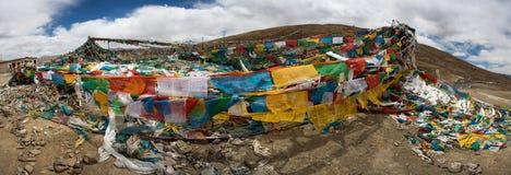 Pray flags in Tibet Royalty Free Stock Photos